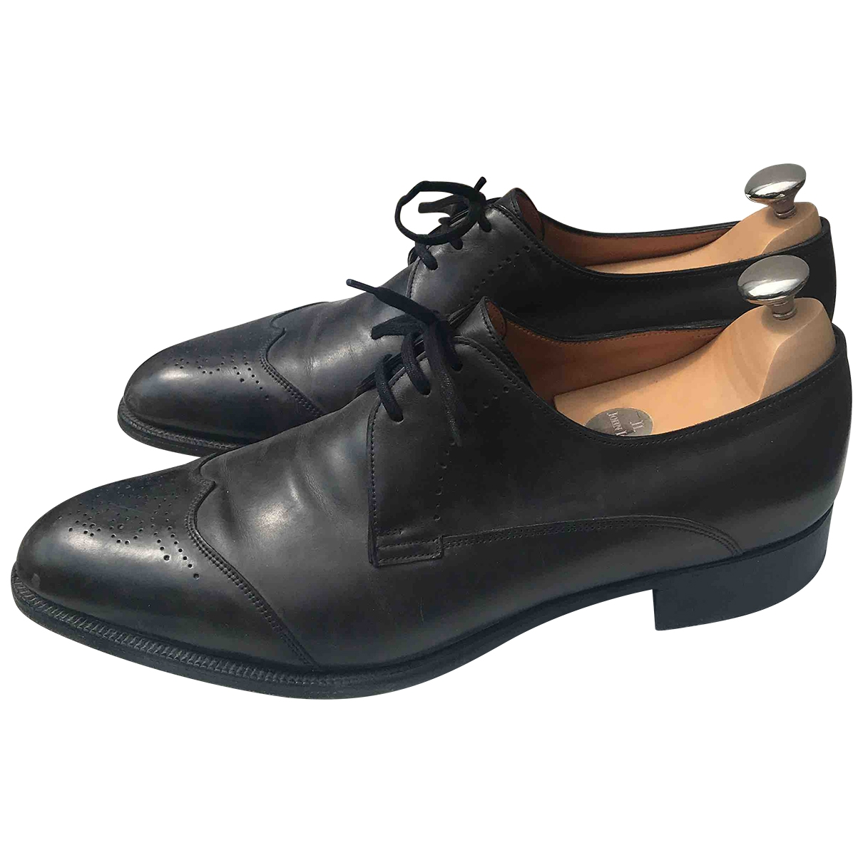 John Lobb \N Grey Leather Lace ups for Men 42 EU