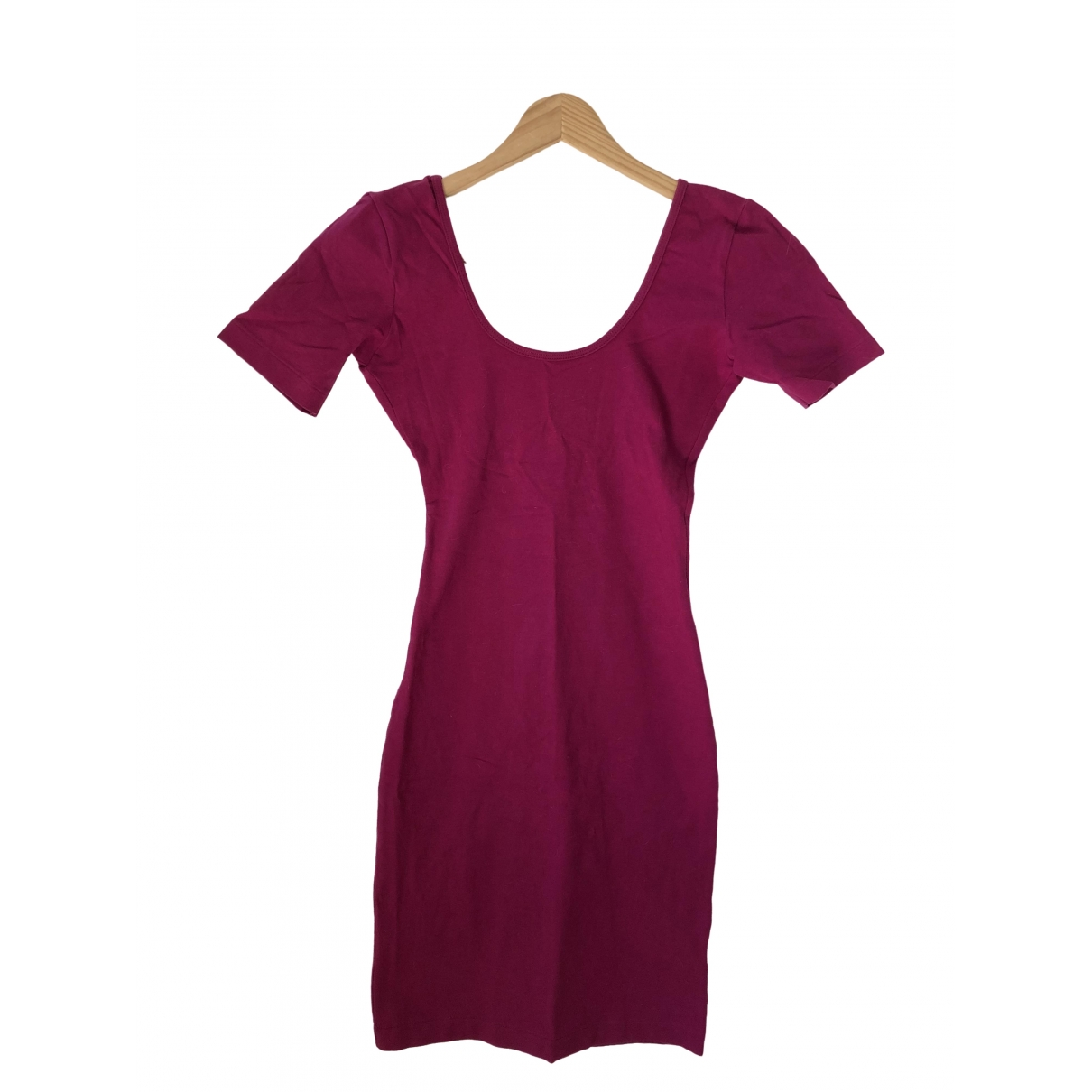 American Apparel - Robe   pour femme en coton - elasthane - rose