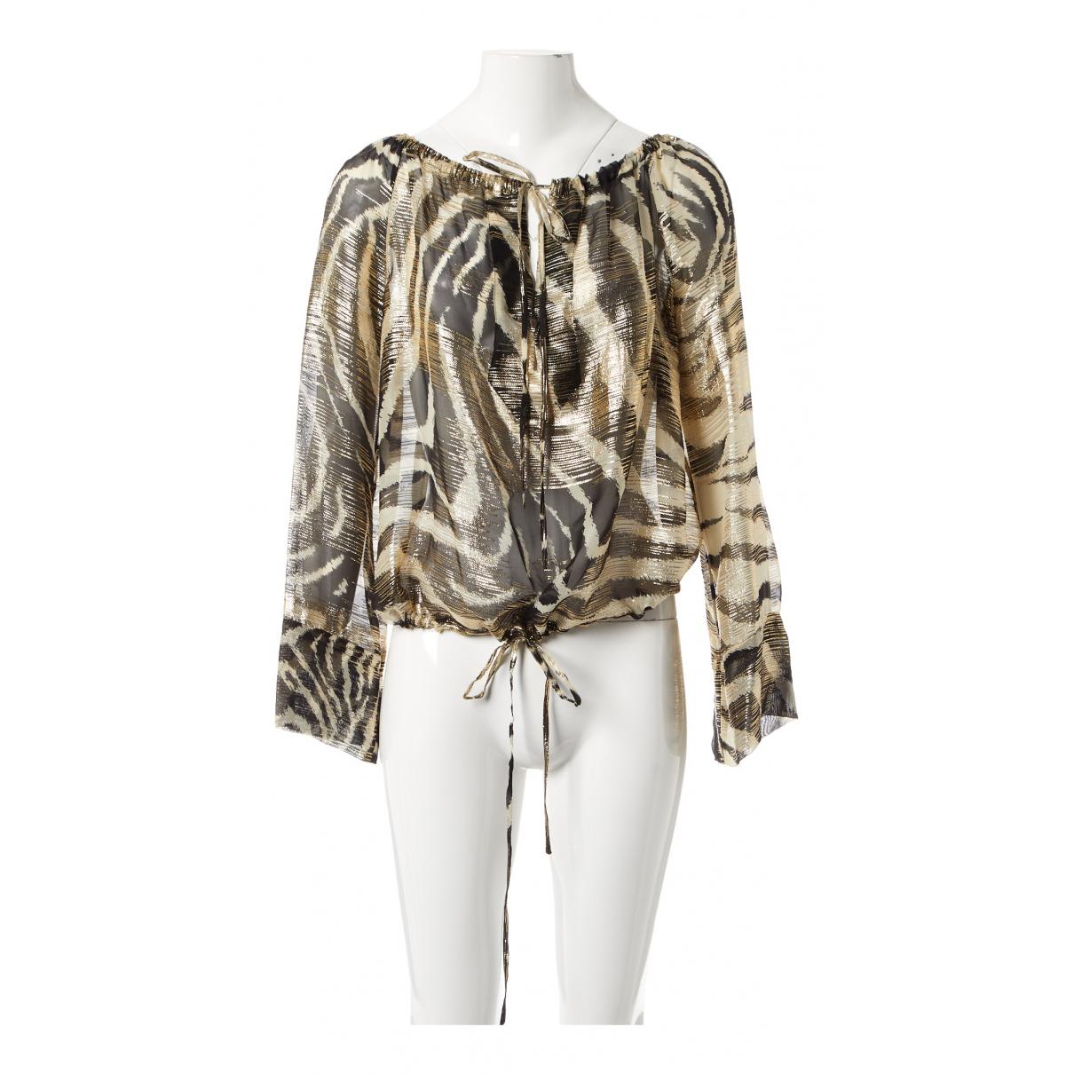 Gucci - Top   pour femme en soie - dore