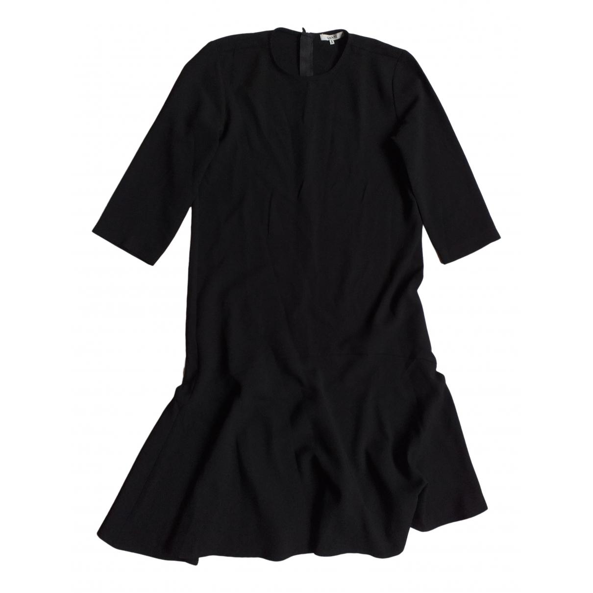 Ganni Fall Winter 2019 Kleid in  Schwarz Polyester