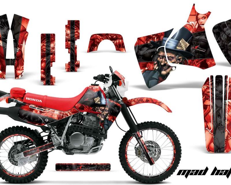 AMR Racing Graphics MX-NP-HON-XR650L-93-18-HAT K R Kit Decal Sticker Wrap + # Plates For Honda XR650L 1993-2018áHATTER BLACK RED