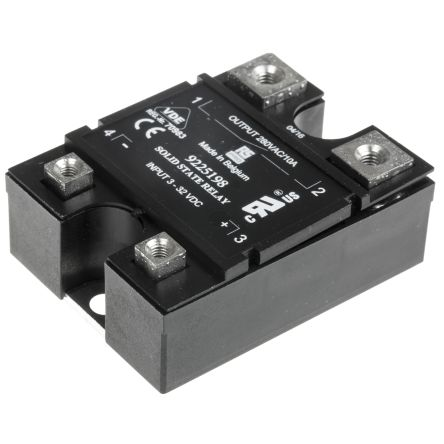RS PRO 10 A rms SPNO Solid State Relay, Zero Cross, Panel Mount, TRIAC, 280 V ac Maximum Load