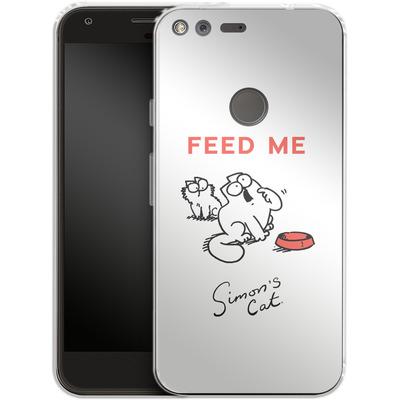 Google Pixel Silikon Handyhuelle - Feed Me von Simons Cat