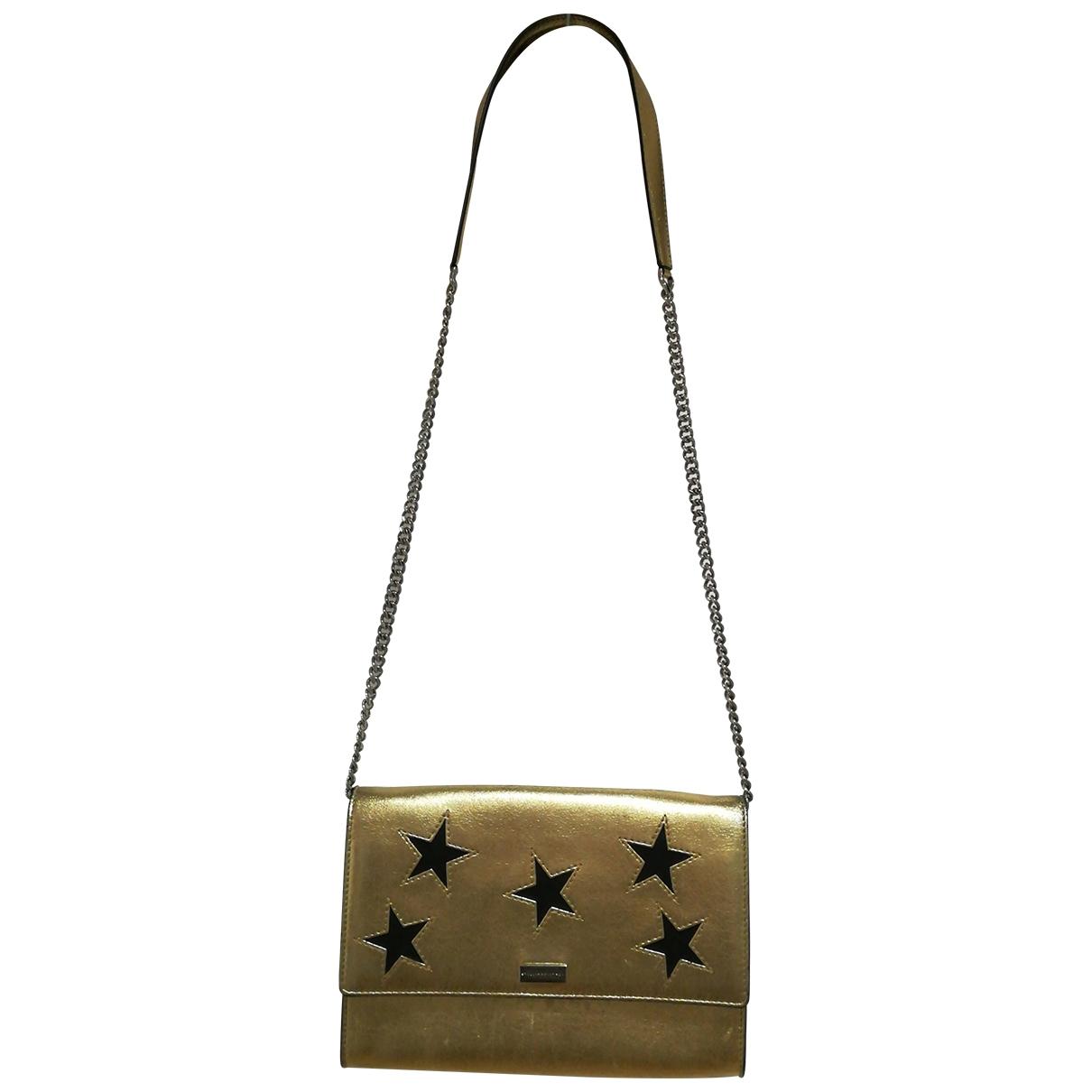 Stella Mccartney Stella Star Clutch in  Gold Leder