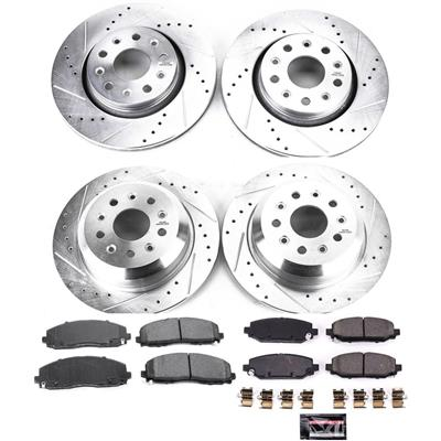 Power Stop Z23 Evolution Sport Performance 1-Click Front and Rear Brake Kit - K7938
