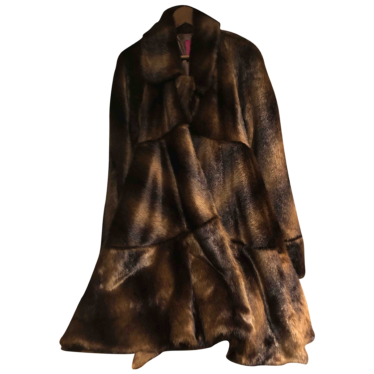 Non Signé / Unsigned \N Brown Faux fur coat for Women M International