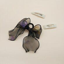 3 Stuecke Haar Accessory mit Kunstperlen