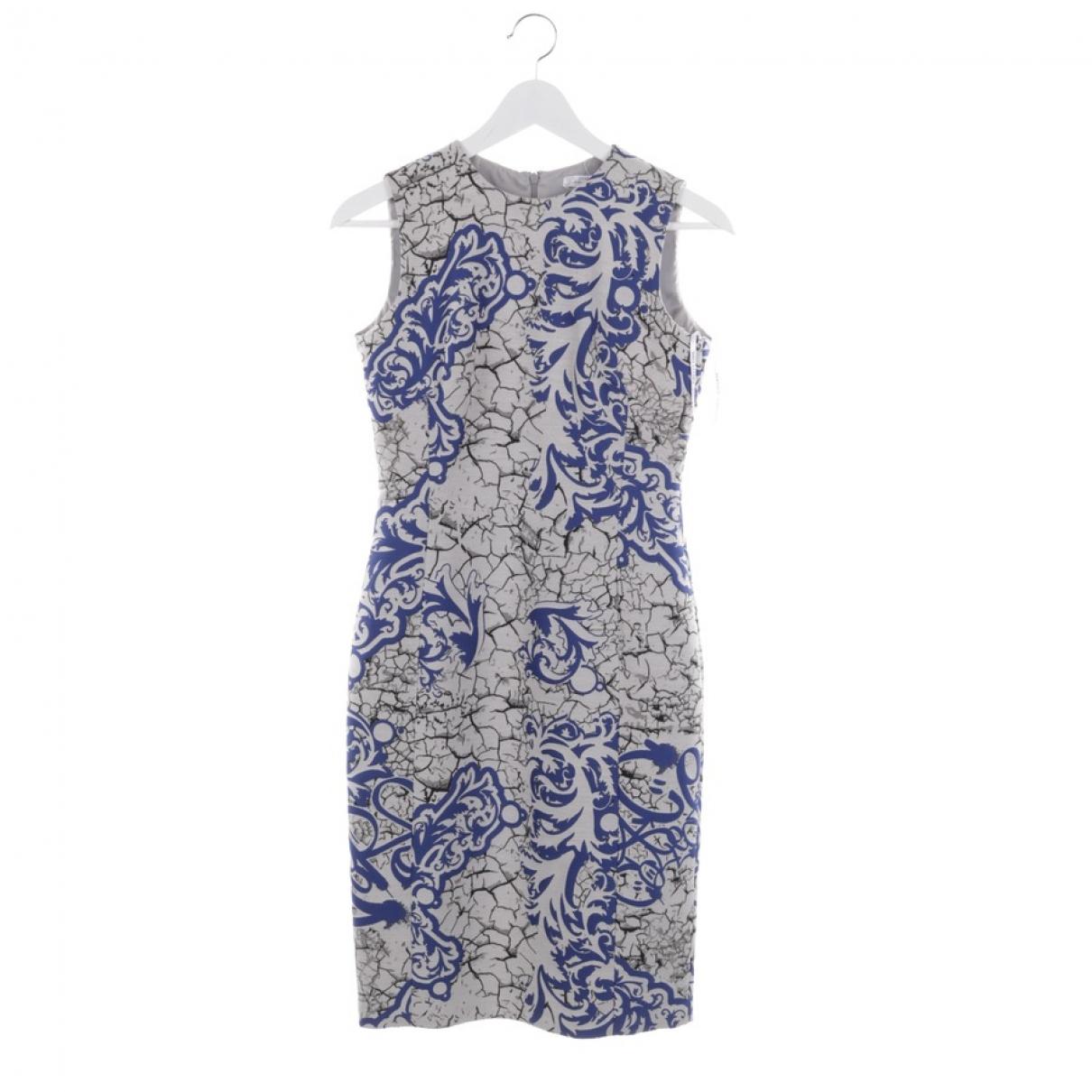 Versace \N Kleid in  Grau Baumwolle
