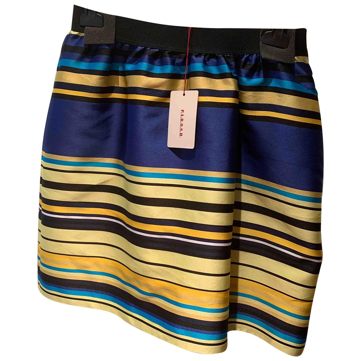 Parosh - Jupe   pour femme en soie - bleu