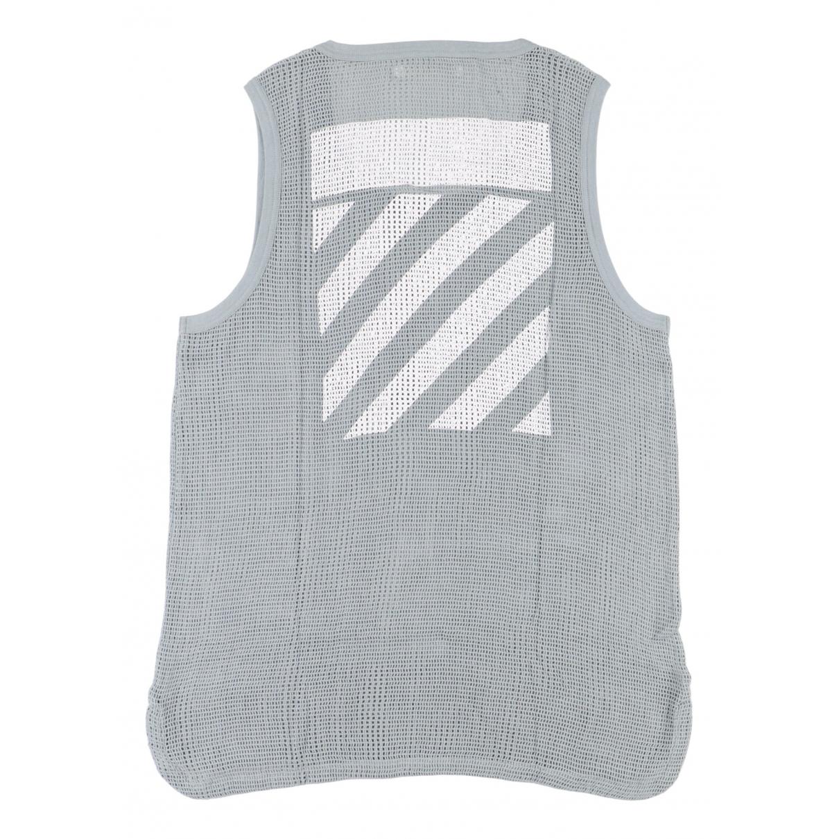 Off-white - Tee shirts   pour homme en coton - gris