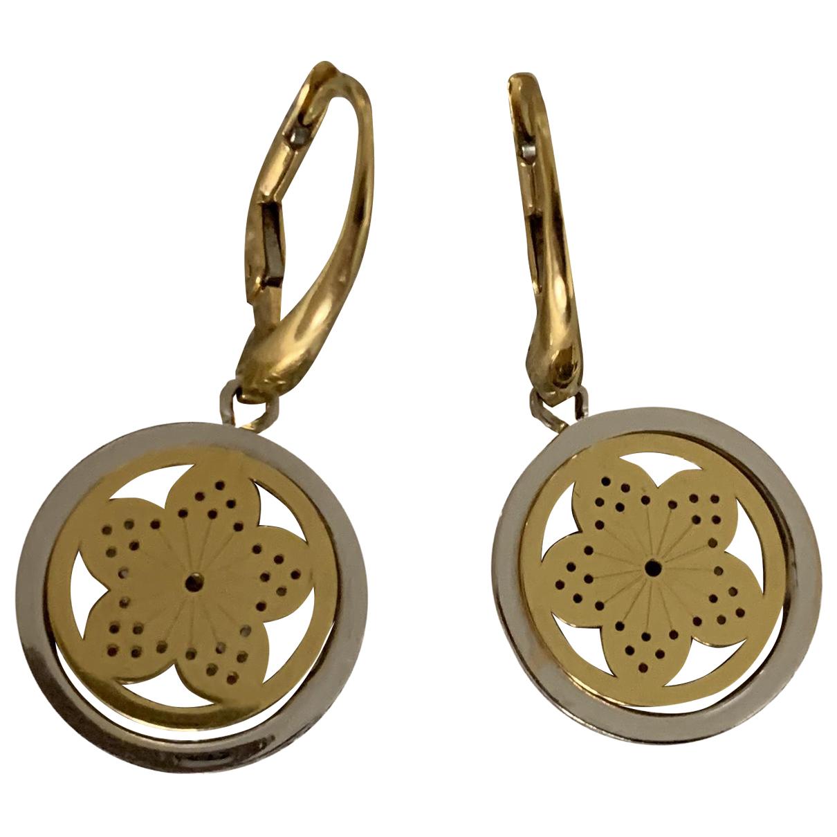 - Boucles doreilles Motifs Floraux pour femme en or jaune