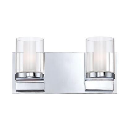 BV2212-90-15 Anchor 2 Light Vanity White Opal Glass / Chrome