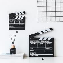1pc Clapperboard Design Dekoratives Objekt