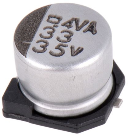 Nippon Chemi-Con 33μF Electrolytic Capacitor 35V dc, Surface Mount - EMVA350ADA330MF55G (10)