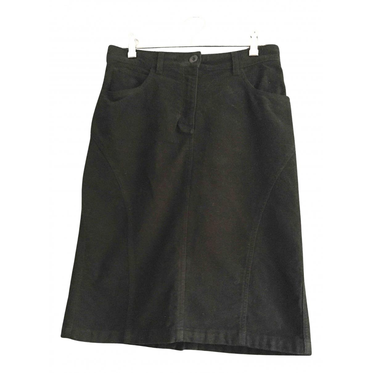 Agnès B. N Black Cotton skirt for Women 38 FR