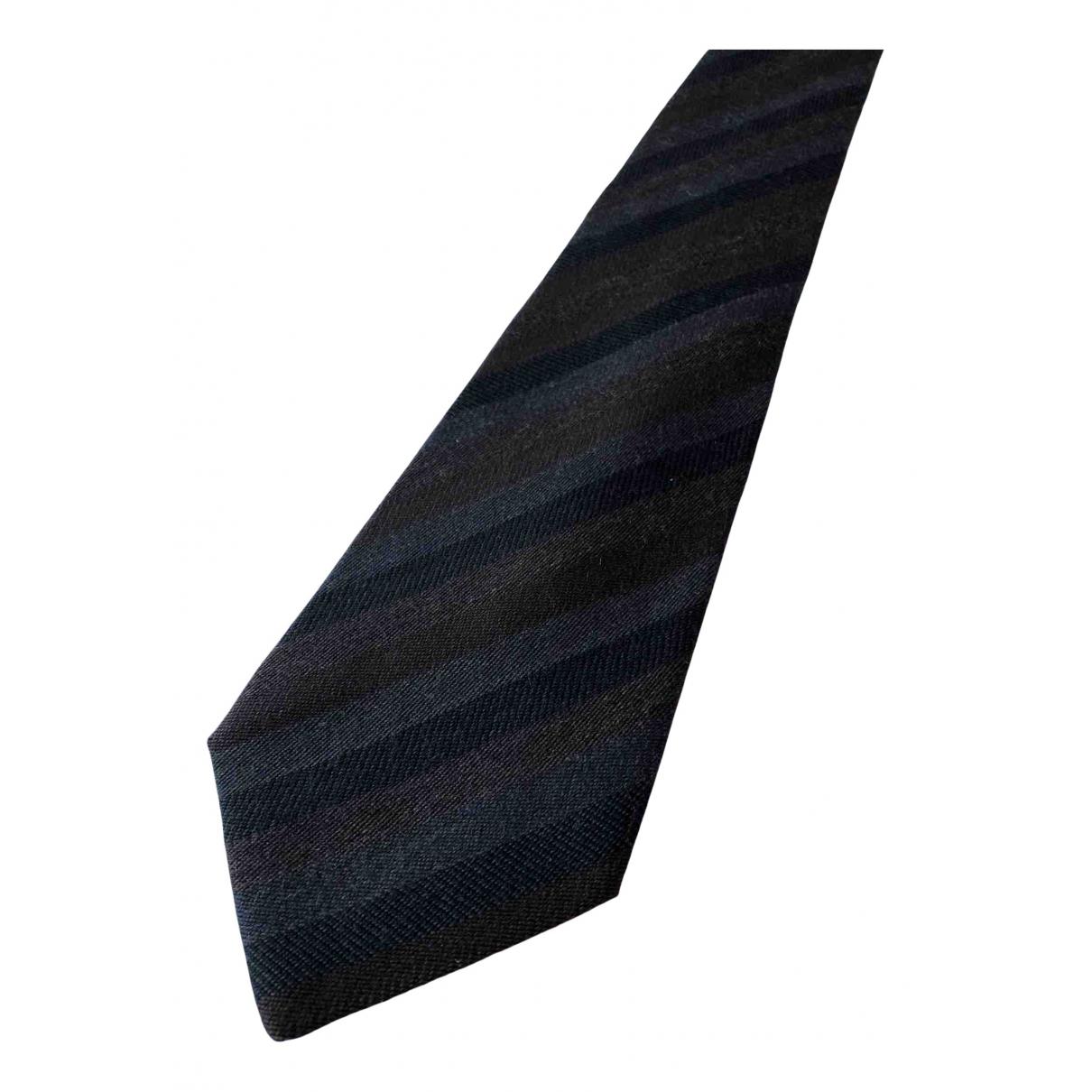 Gianni Versace N Anthracite Wool Ties for Men N