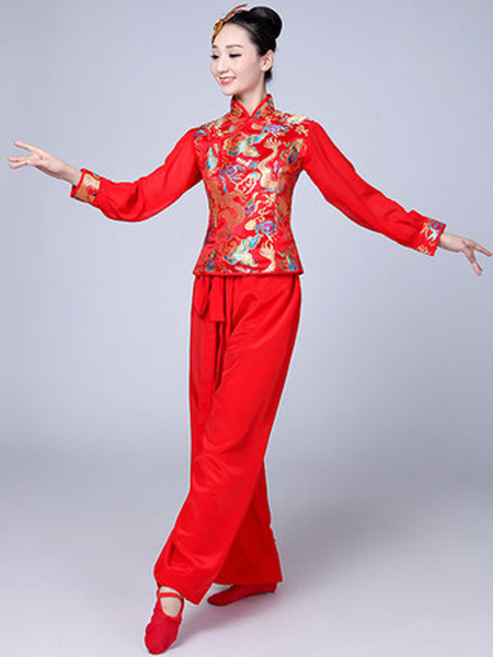 Milanoo Women Chinese Costumes Asian Carnival Costumes Tang Suit Dance Costume