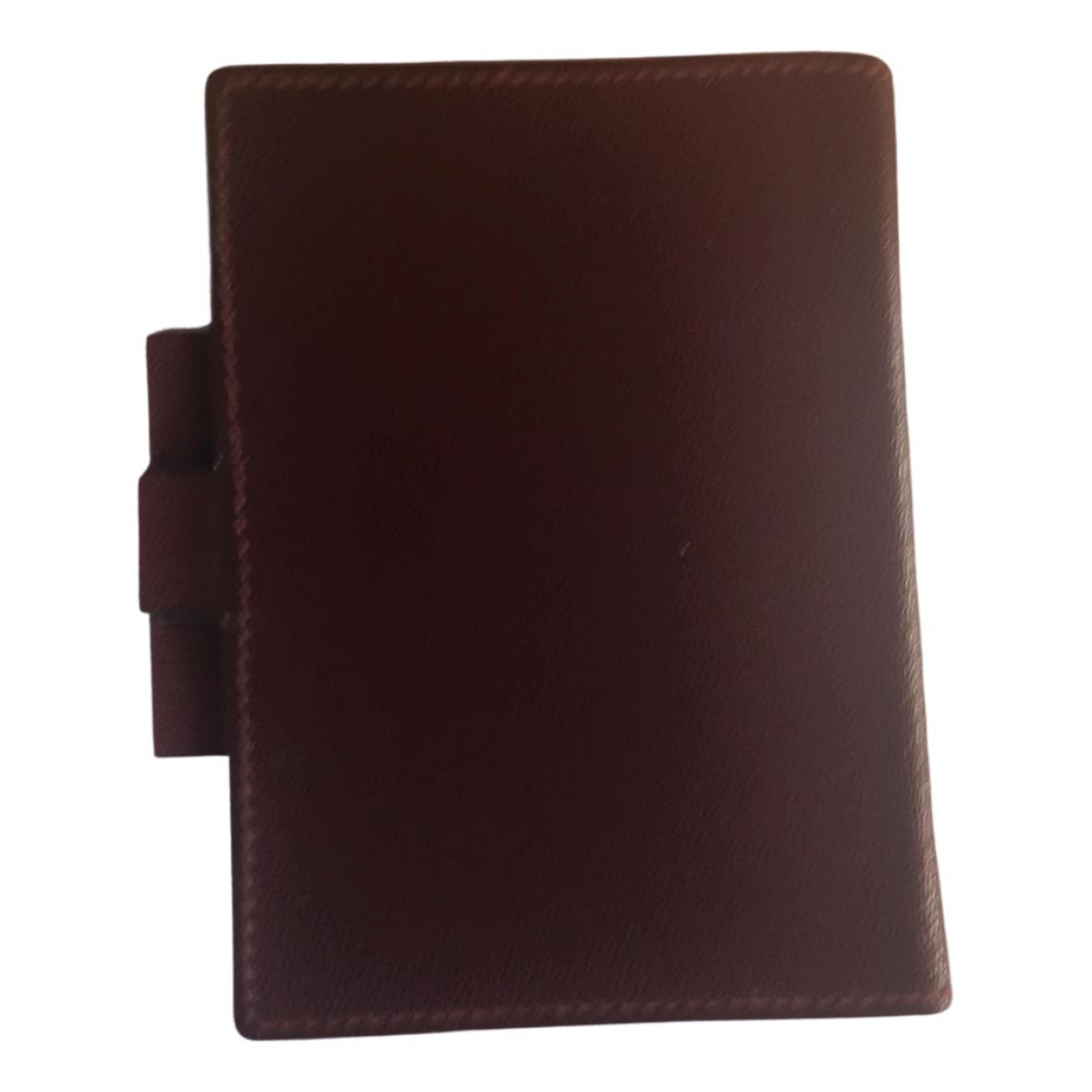 Hermès N Burgundy Leather Home decor for Life & Living N