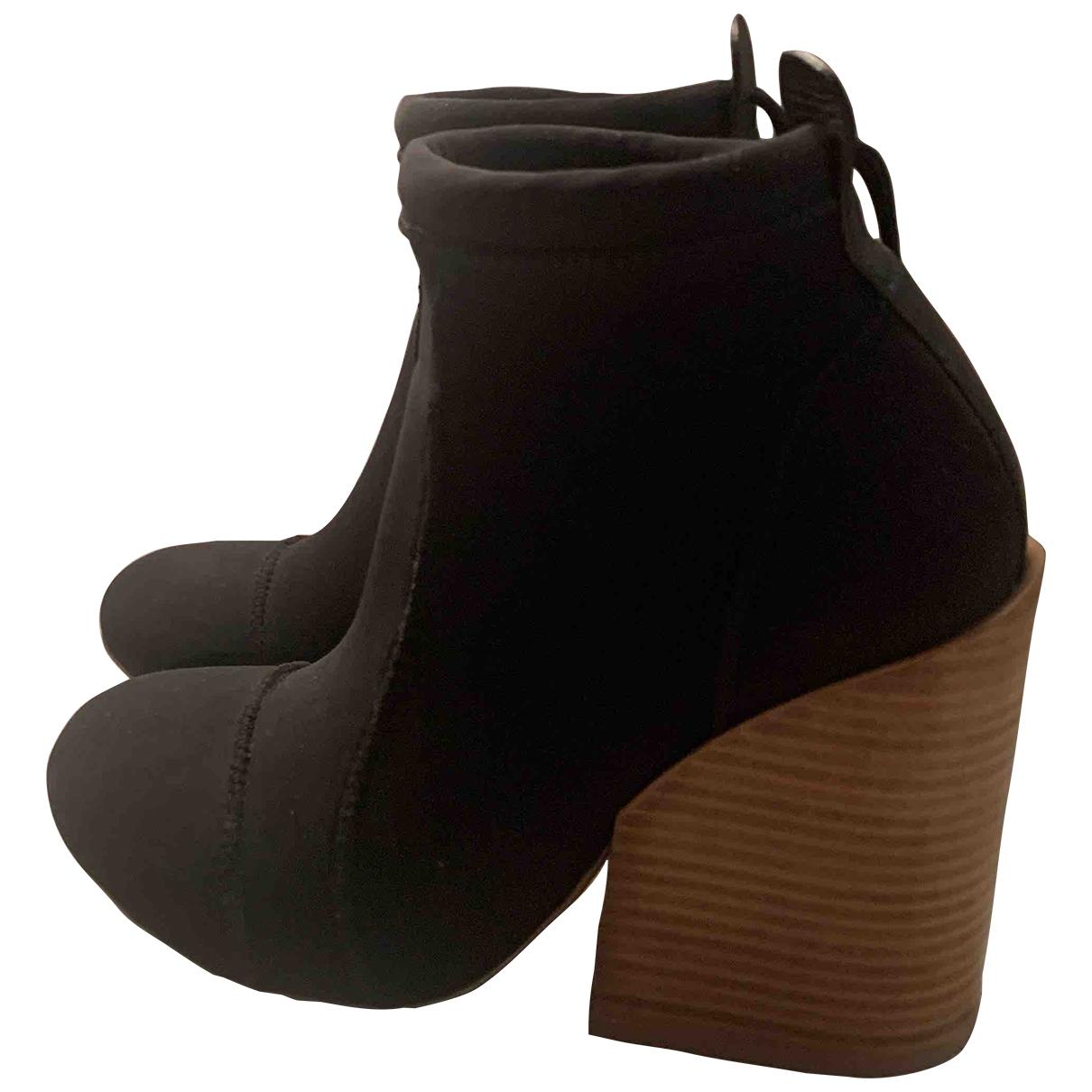 Chloé \N Black Cloth Boots for Women 38.5 EU
