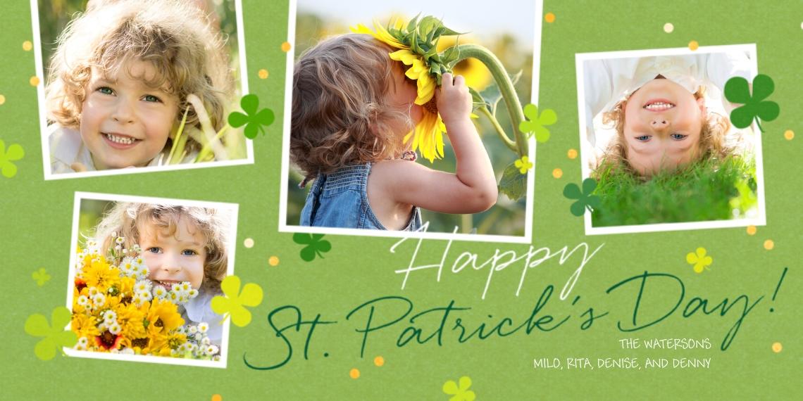 St. Patrick's Day Cards 4x8 Flat Card Set, 85lb, Card & Stationery -St Patrick's Day Snapshots