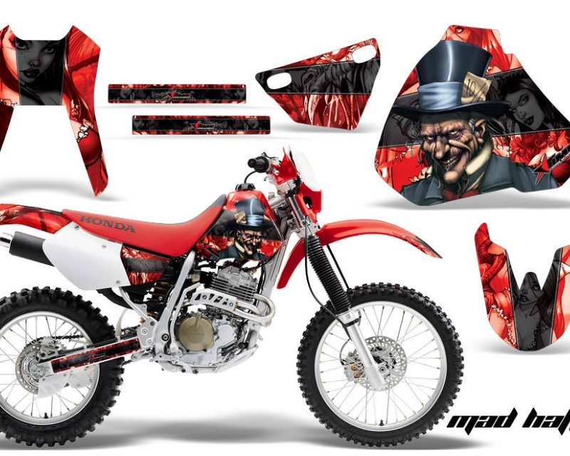AMR Racing Dirt Bike Graphics Kit Decal Sticker Wrap For Honda XR400R 1996-2004áHATTER BLACK RED
