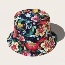 Guys Flower Pattern Bucket Hat