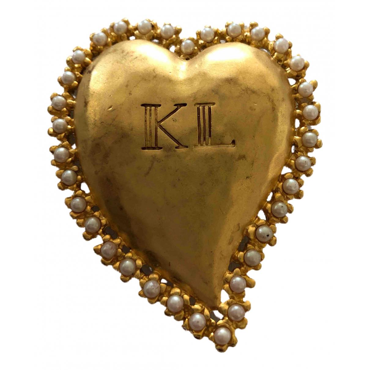 Broche en Metal Dorado Karl Lagerfeld