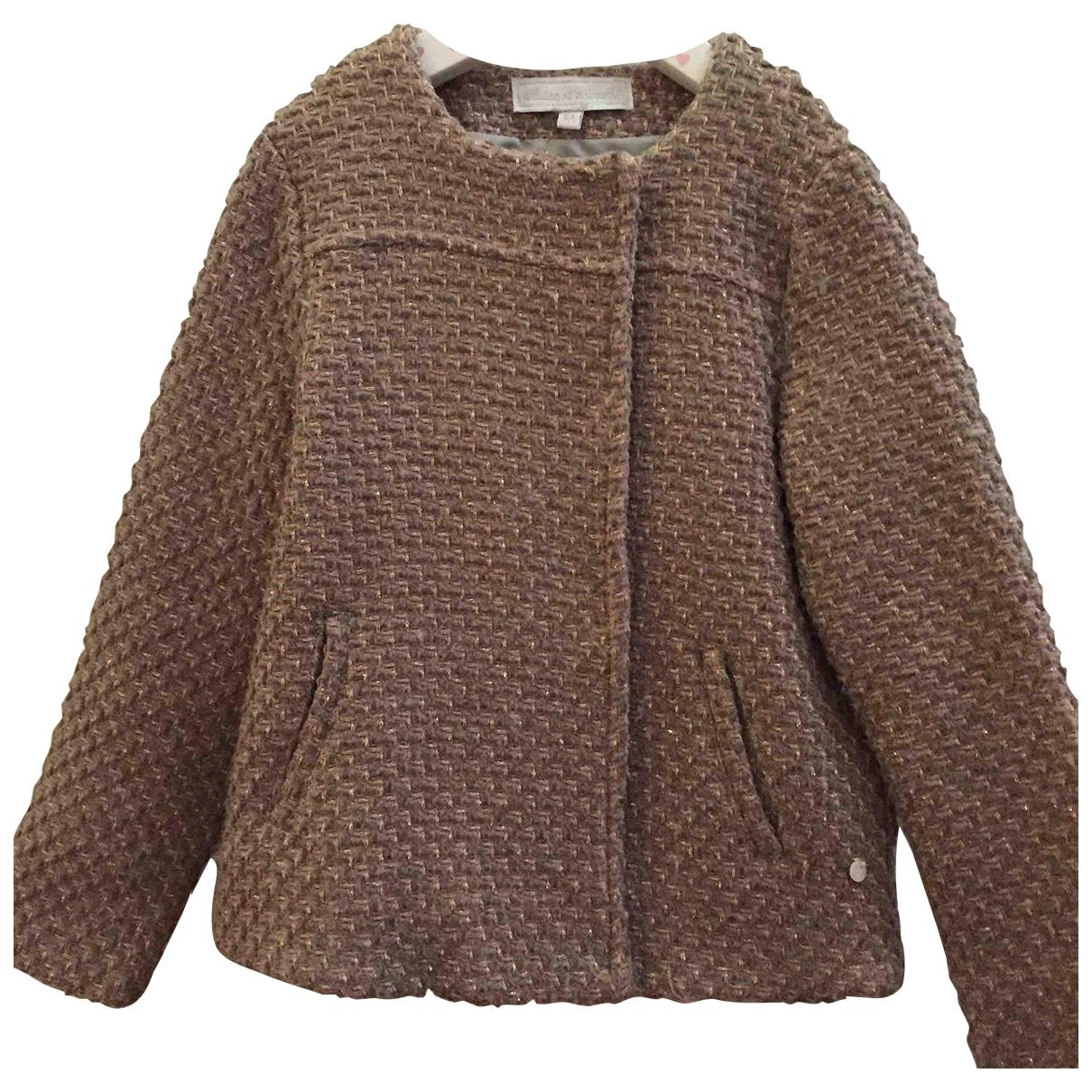 Tartine Et Chocolat - Blousons.Manteaux   pour enfant en laine - dore