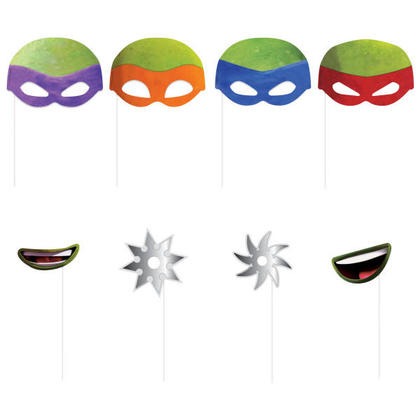 Teenage Mutant Ninja Turtles Photo Booth Props, 8ct For Birthday Party