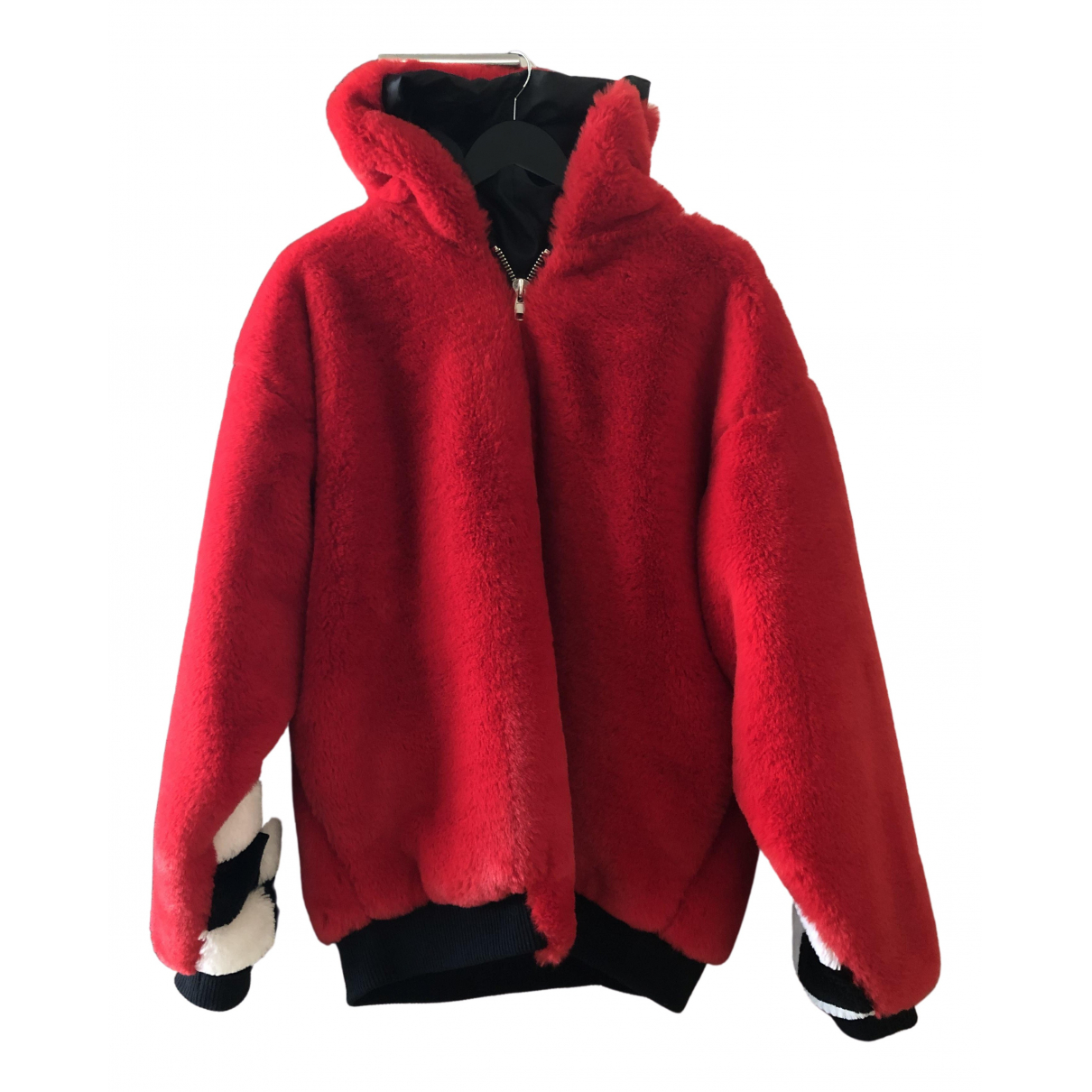 Non Signé / Unsigned \N Red Faux fur jacket for Women M International