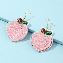 Bead Fruit Drop Earrings