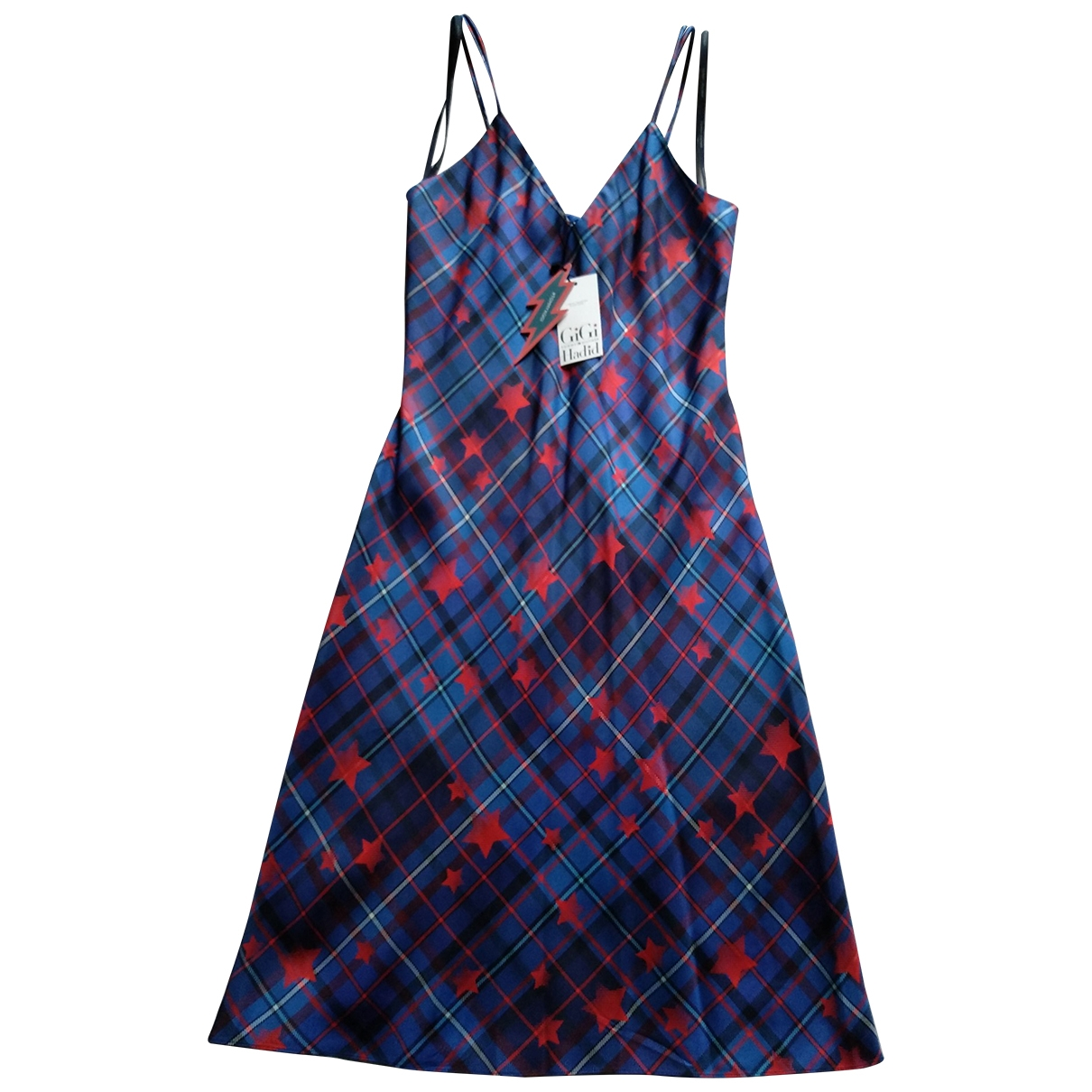 Gigi Hadid X Tommy Hilfiger - Robe   pour femme en soie - bleu
