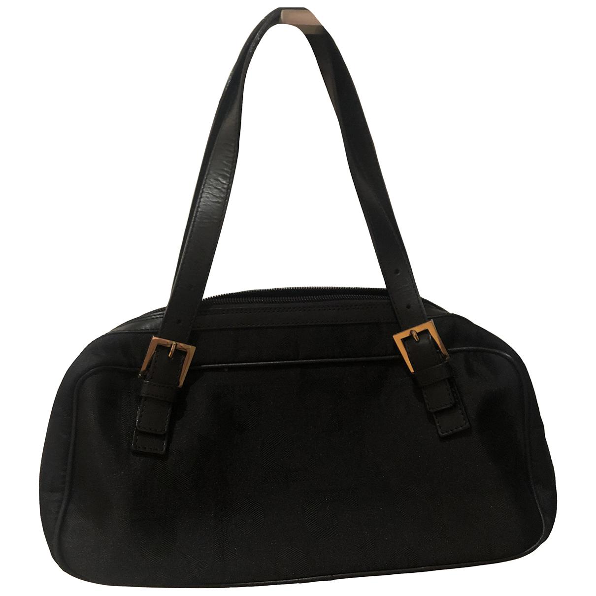 Pierre Cardin \N Handtasche in  Schwarz Leinen
