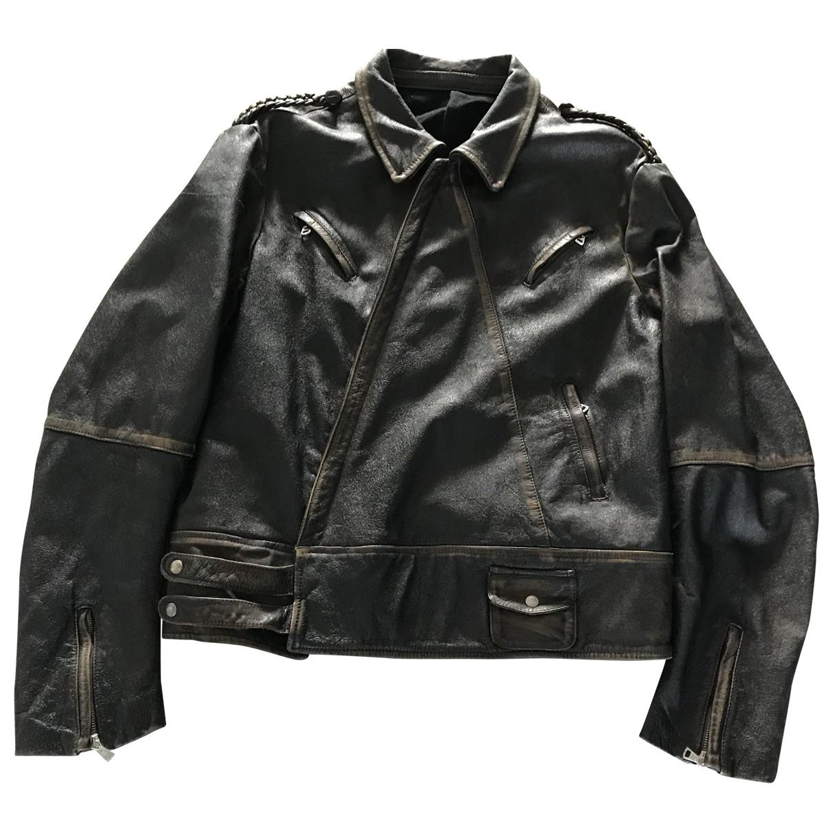 Maison Martin Margiela \N Brown Leather jacket  for Men 52 FR