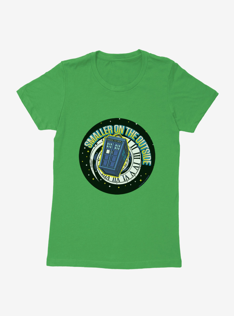 Doctor Who TARDIS Smaller On The Outside Womens T-Shirt