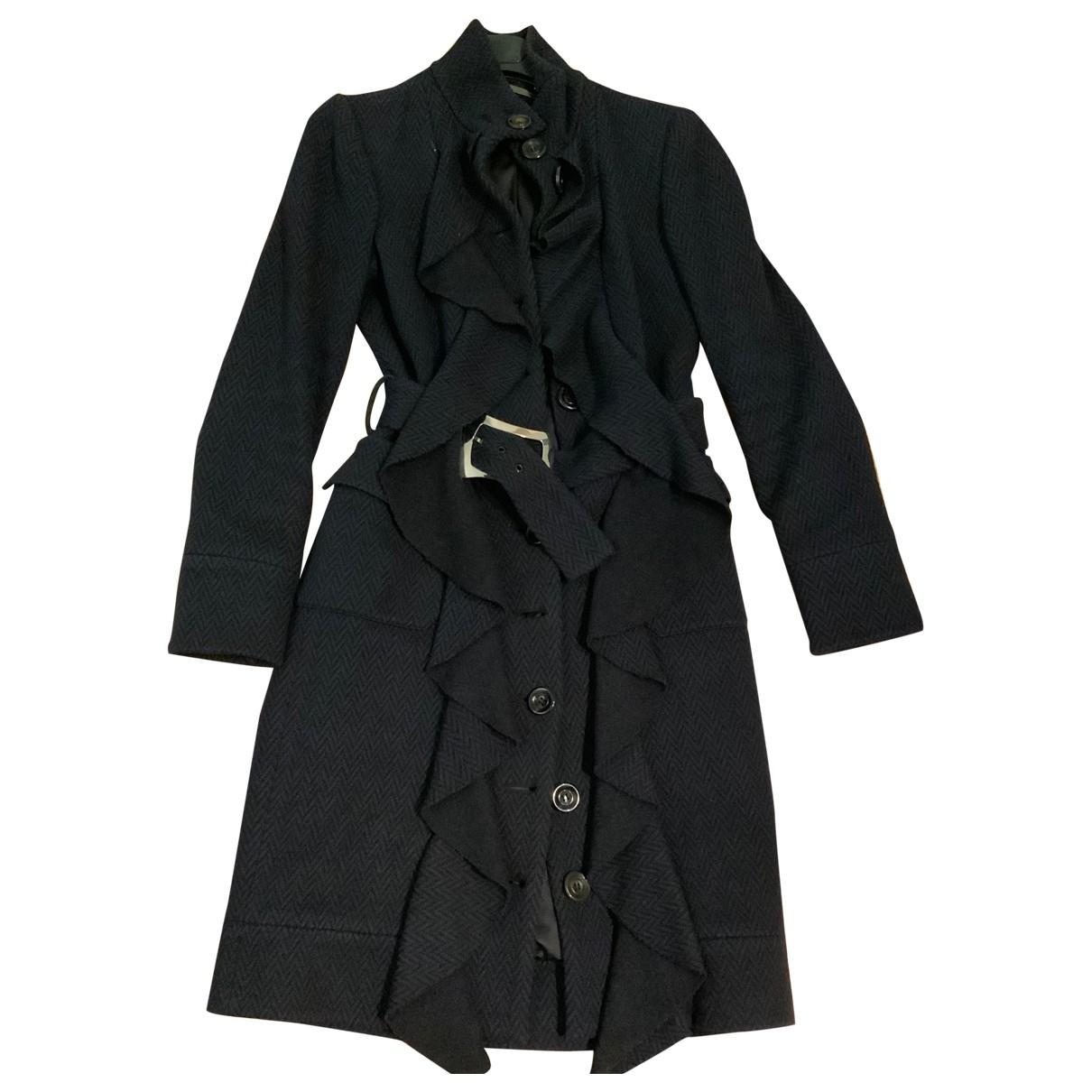 Diane Von Furstenberg \N Blue Wool coat for Women 42 IT
