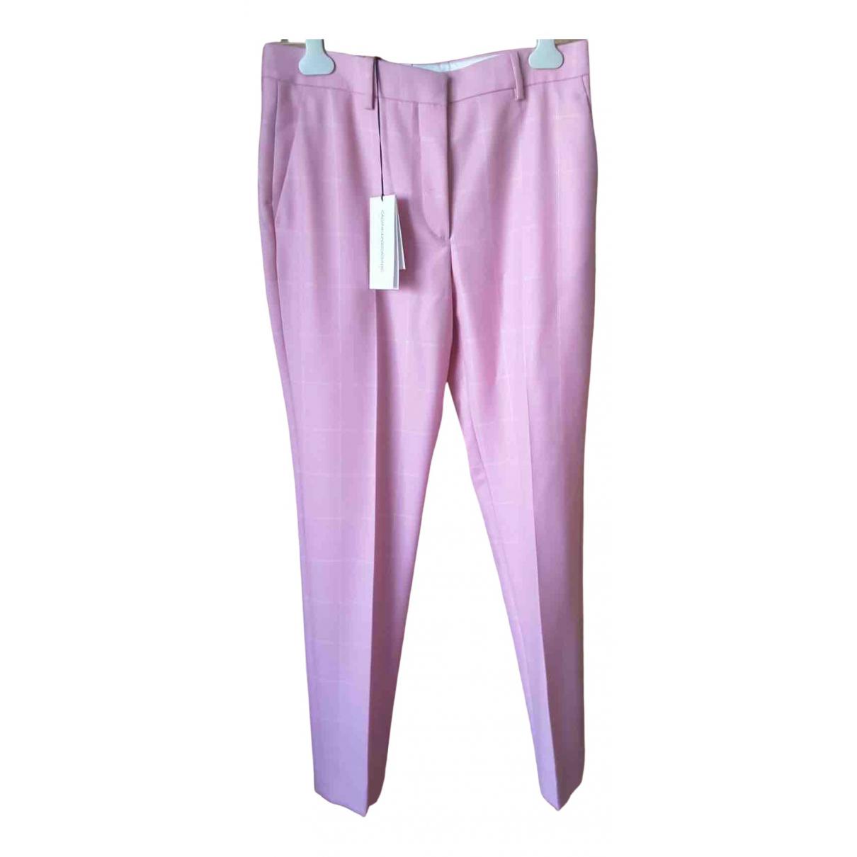 Calvin Klein 205w39nyc N Multicolour Wool Trousers for Women 40 IT