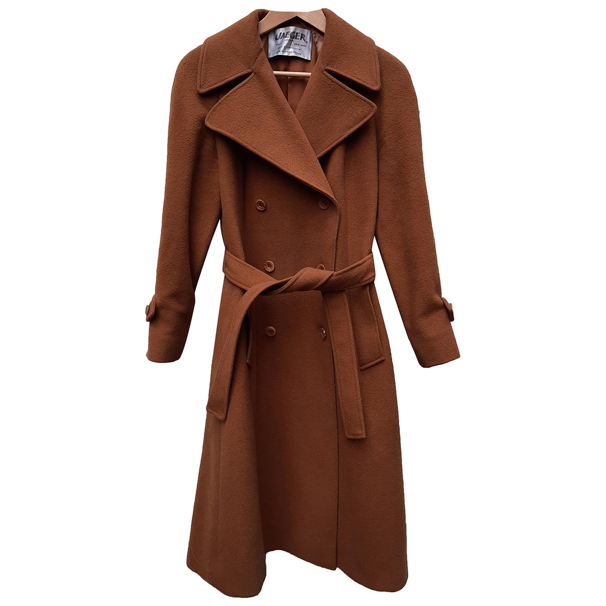 Jaeger N Camel Wool coat for Women 12 UK