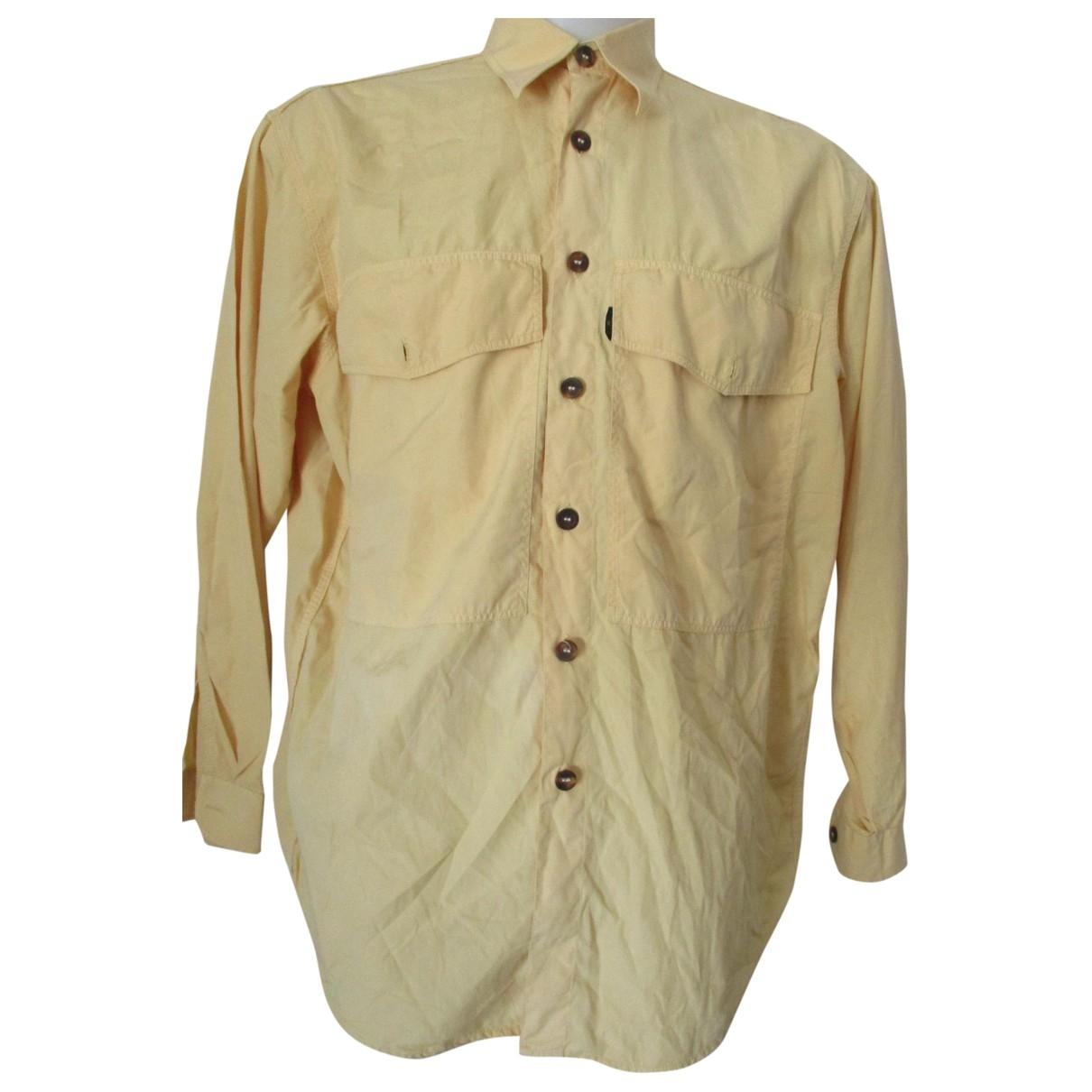 Valentino Garavani \N Yellow Cotton Shirts for Men 40 EU (tour de cou / collar)