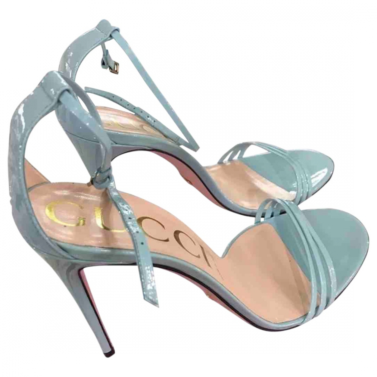 Gucci \N Blue Patent leather Sandals for Women 41 EU