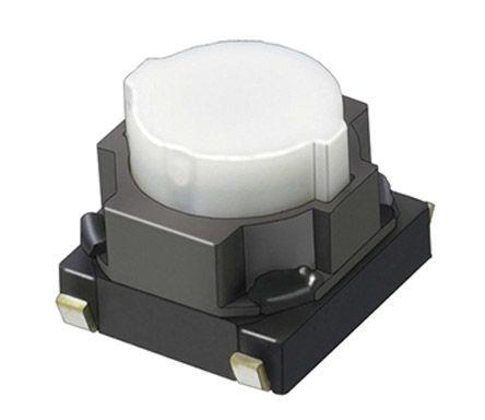 Panasonic Natural Push Plate Tactile Switch, Single Pole Single Throw (SPST) 20 mA @ 15 V dc 4.6 (Dia.)mm Surface Mount (10)