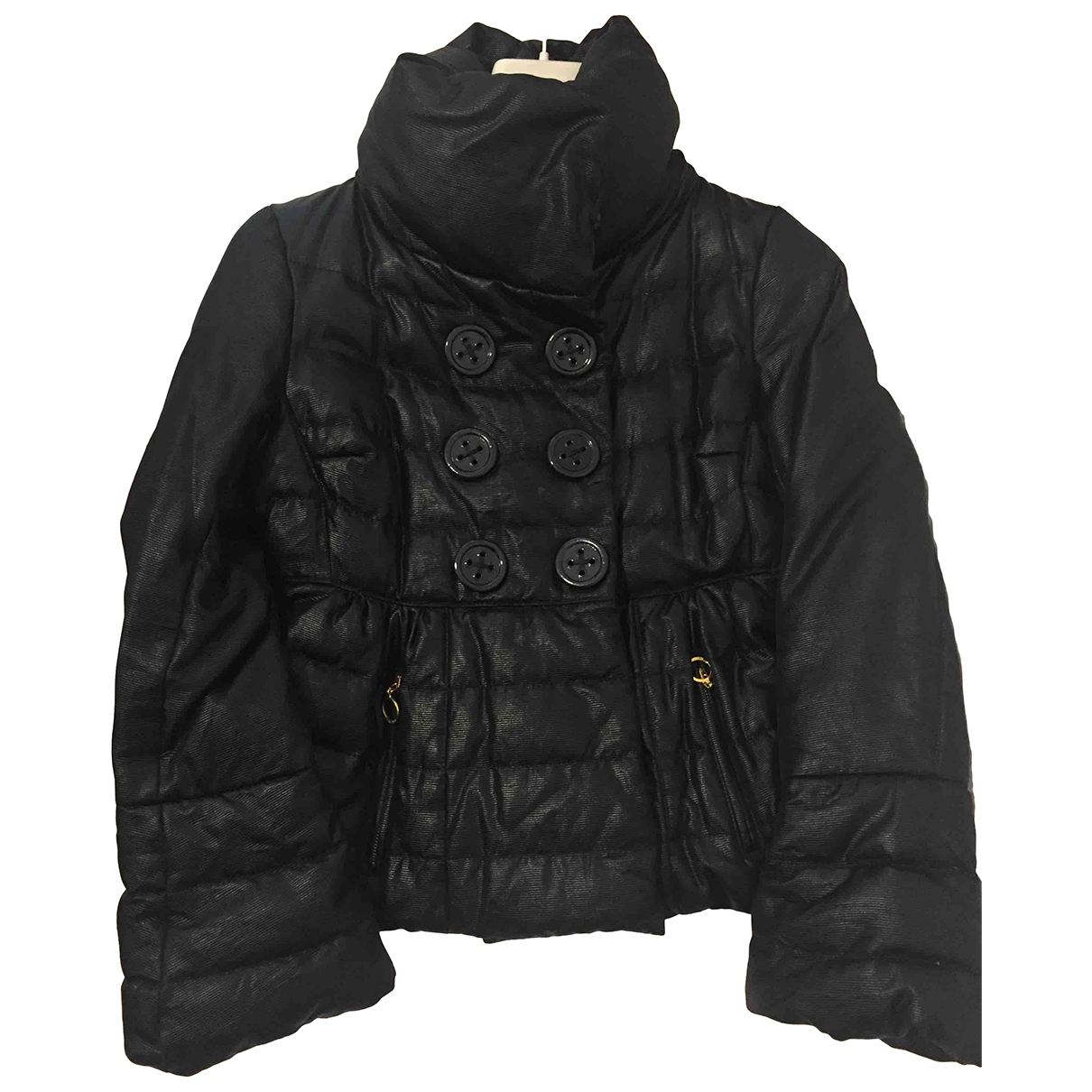 Moncler Classic Maentel in  Schwarz Wolle