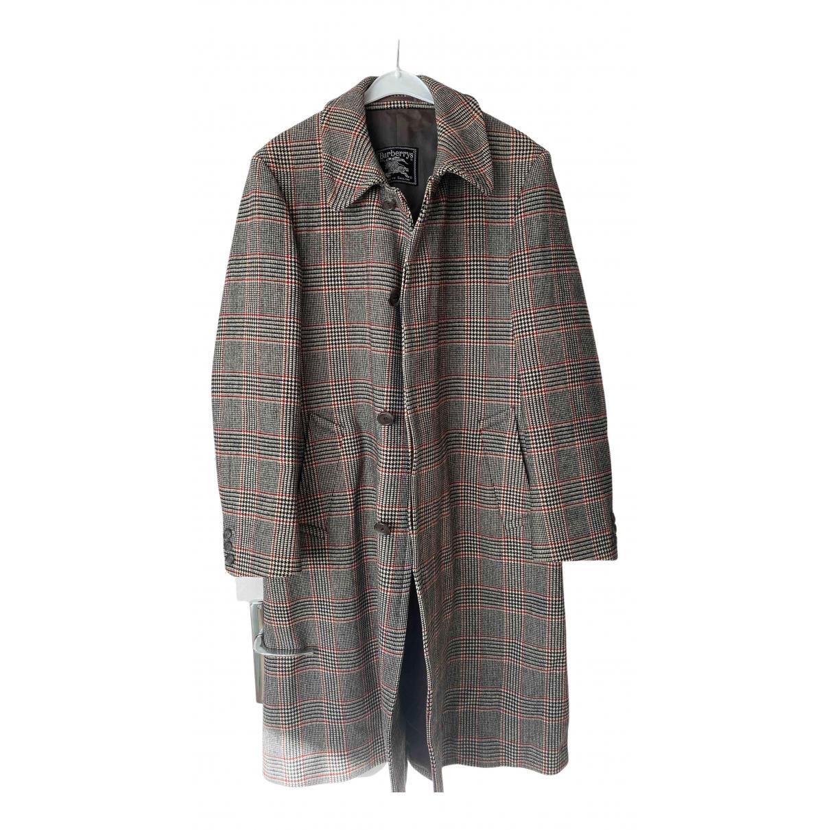 Burberry - Manteau   pour homme en laine - beige