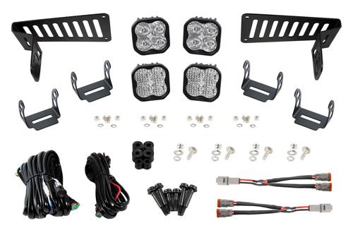 Diode Dynamics DD6553 SS3 Cowl LED Bracket Kit for 18-20 Wrangler JL/Gladiator White Sport