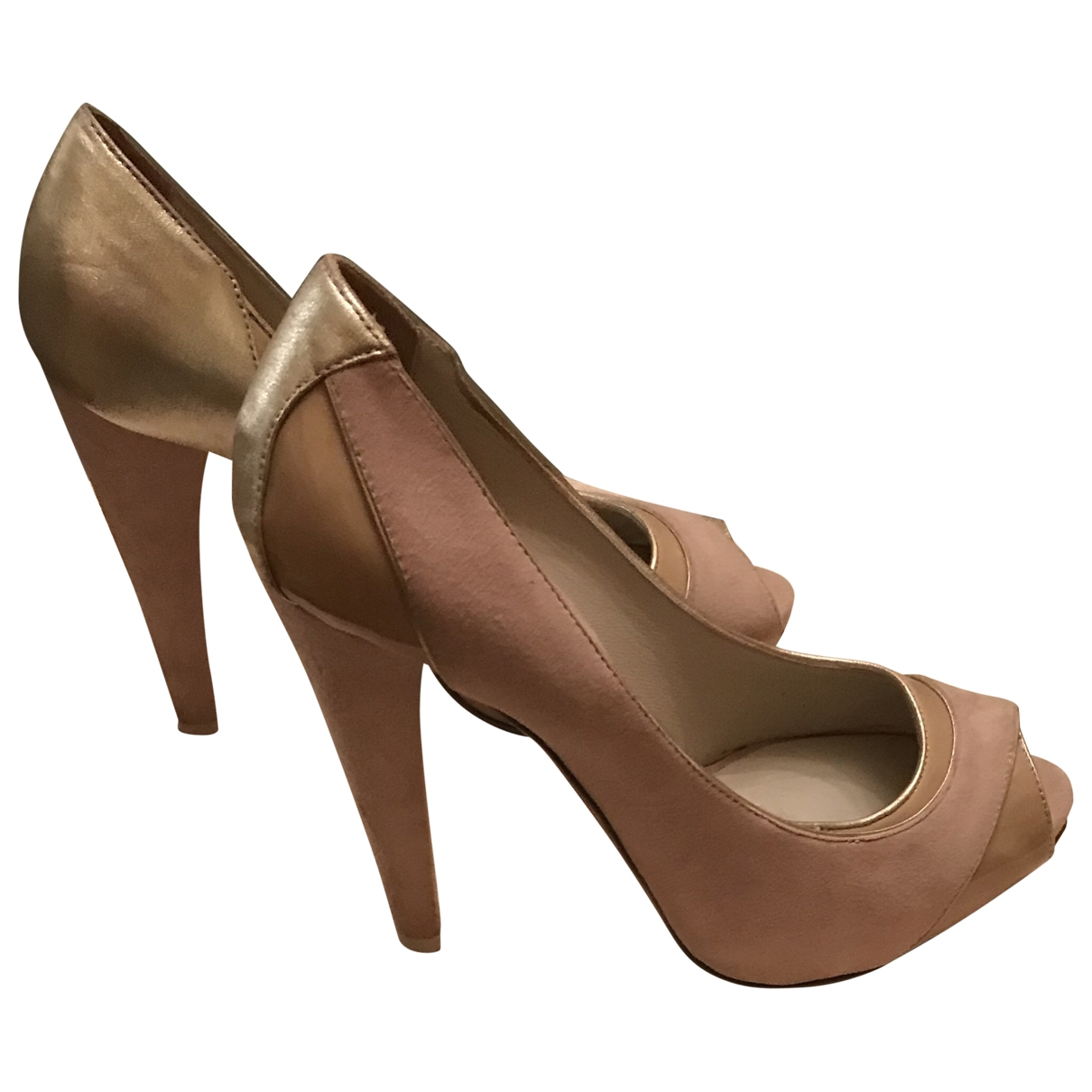 Emporio Armani \N Pink Suede Heels for Women 36.5 IT