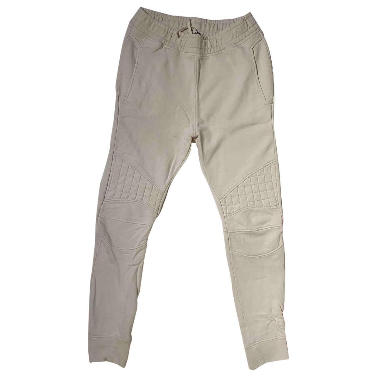 Balmain \N Beige Cotton Trousers for Men M International