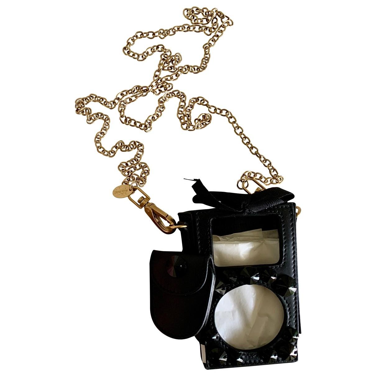 Miu Miu - Accessoires   pour lifestyle en cuir - noir