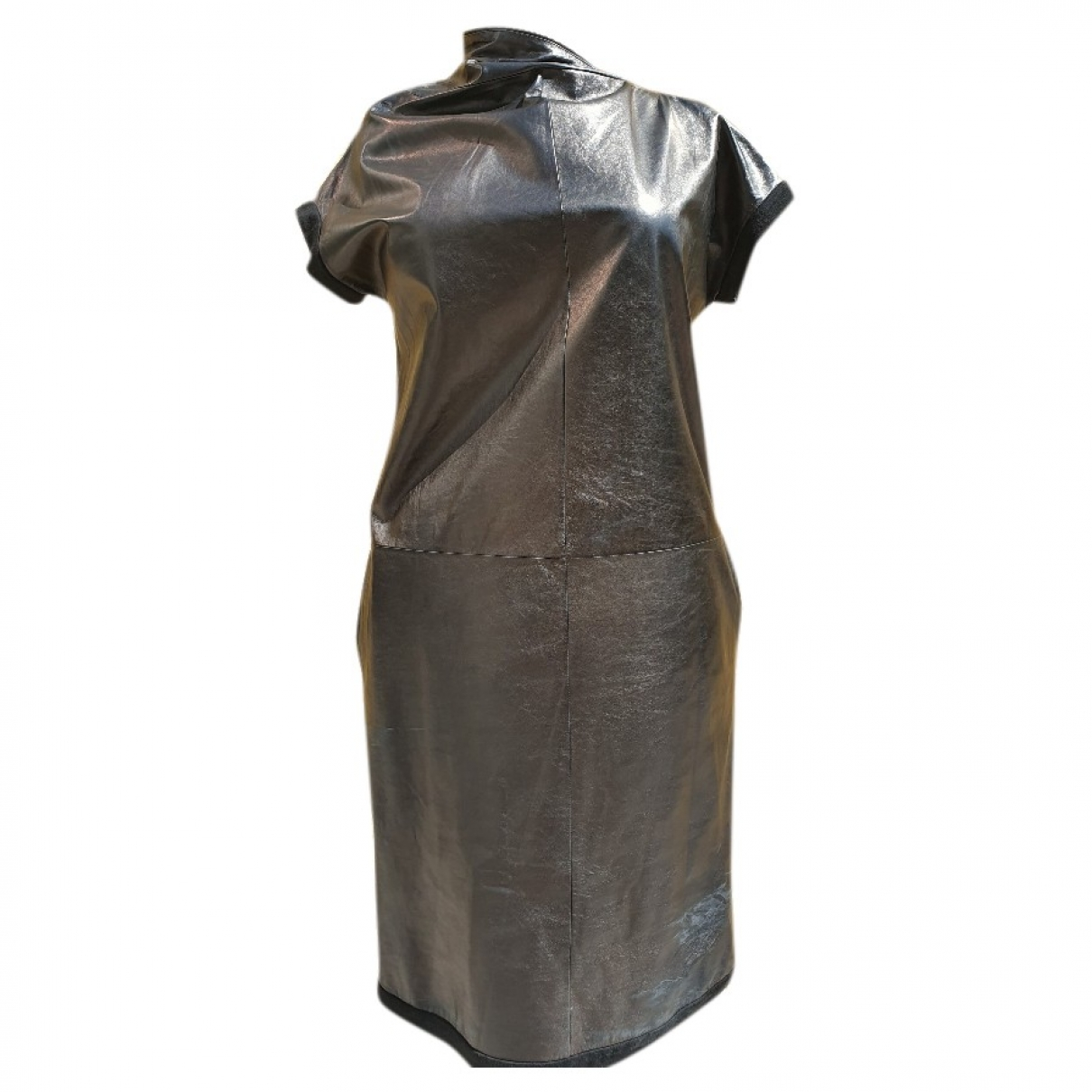Bottega Veneta \N Kleid in  Schwarz Leder