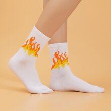Flame Pattern Socks