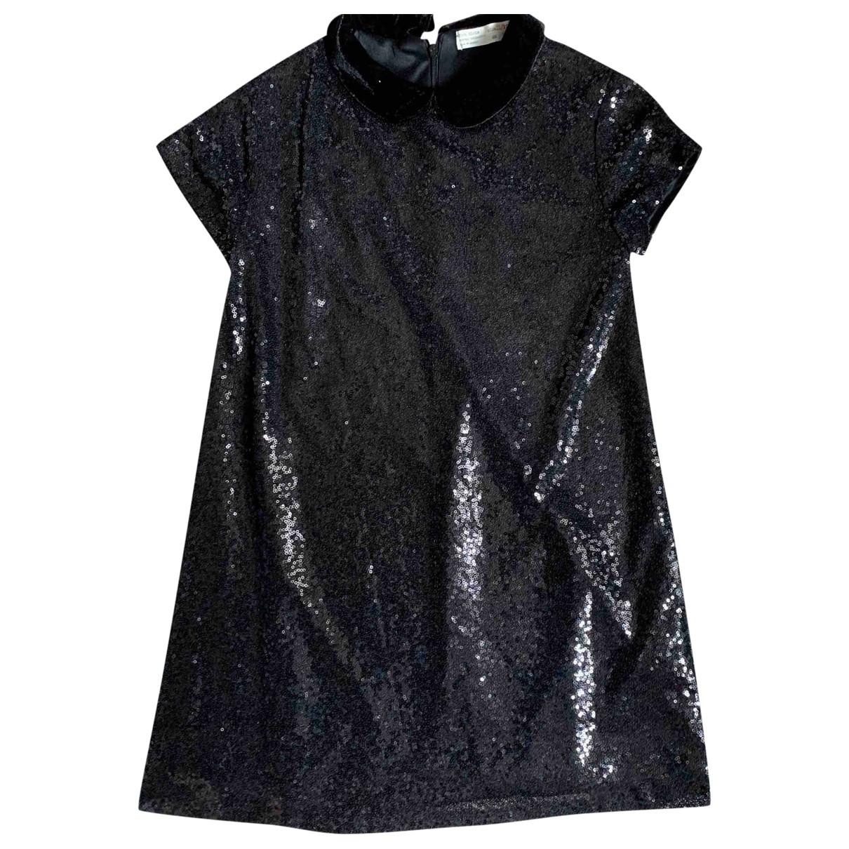 Zara - Robe    pour enfant en a paillettes - noir